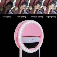 Phone Selfie Light USB Rechargeable 36 LED Ring Light With 3-levels