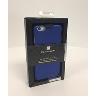 Platinum - Protective Case And Holster For Apple iPhone 6 Plus - Dark Blue