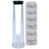 Water Filter Holder with 6 Water Filters, Fits Keurig 2.0 Coffee Makers System