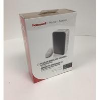Honeywell Plug In Wireless Doorbell and Push Button Strobe Alert-white Sealed