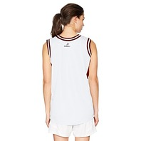 Intensity Womens Flatback Mesh Basketball Jersey, White/Cardinal, Medium