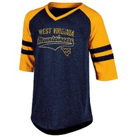 NCAA West Virginia Mountaineers Youth Girls Half Sleeve Tee X-Large Navy