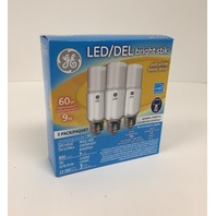 GE Lighting 9W Bright Stik Soft White LED Bulb