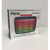 iHome iBT85 Splashproof Color Changing  Bluetooth Stereo Speaker - Speakerphone