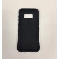 Speck Presidio Grip Cell Phone Case for Samsung Galaxy S8, Black/Black