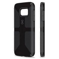 Speck Galaxy S7 Case, CandyShell Grip  (Black/Slate Grey)