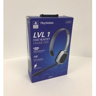PDP PS4 LVL 1 Chat Gaming Headset, Grey Camo, 051-031-NA-YCAM