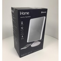iHome vanity mirror with bluetooth audio, hands-free speakerphone, LED lighting
