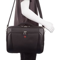 "Swiss Gear 15.6"" Clamshell Laptop Messenger Bag - Black"
