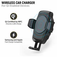 SCOSCHE Charger & Cradle for Samsung 7/8, Pixel, iPhone X/8/8 Plus - Black