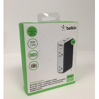 Belkin Travel Rockstar Surge Protector, 2 AC Outlets & 3000 mAh Battery Pack