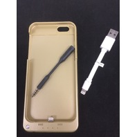 Power bank charging case for iPhone 6 3200mAh Gold