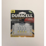 Duracell 10 Hearing Aid Batteries with Easy-Fit Tab, 12 Pack