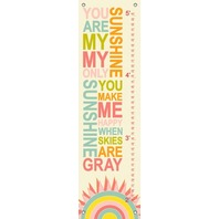 Oopsy Daisy Growth Charts My Only Sunshine Candy by Finny and Zook, 2 by 42-Inch