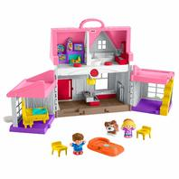 Fisher-Price Little People Big Helpers Home Playset, Pink
