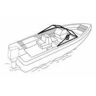 Survivor Marine Boat Cover For V-Hull Style Runabout With Open Bow (Outboard)