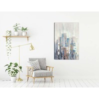 "Artmaison D1804ONL Cityline I Canvas Print Wall Art, 30""X48"""