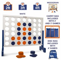 Giant 4 In A Row, 4 To Score With Carrying Bag - Premium Wooden Game Set