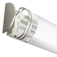 Sunlite 48 Inch LED Bath Vanity Wall Mount Fixture, Brushed Nickel, Frosted Lens
