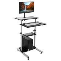 Mount-It! Mobile Stand Up Desk / Height Adjustable Computer Work Station