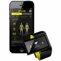 Atlas Wristband2 Digital Trainer   Heart Rate Band - Black/GREEN