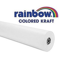 "Rainbow Kraft 1369515 Duo Finish Kraft Paper Roll, 48"" X 200' Size, White"