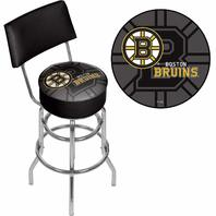 Trademark Gameroom Nhl Swivel Bar Stool With Back - Watermark - Boston Bruinsa