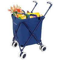 Versacart Transit Utility Cart - Folding Shopping Cart - Navy Blue