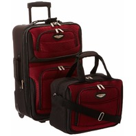 Travel Select Amsterdam Two Piece Carry-On Luggage Set, Burgundy, One Size