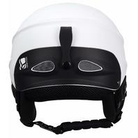 Demon Phantom Helmet With Brainteaser Audio And Free Balaclava (White, X-Large)