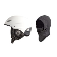 Demon Phantom Helmet With Brainteaser Audio And Free Balaclava (White, X-Large)
