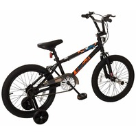 Mongoose Switch Boy's Freestyle BMX Bike, Training Wheels, 18-Inch Wheels, Black