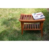Ala Teak Indoor Outdoor Waterproof Stool Bench Fully Assembled