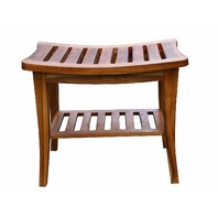 Ala Teak Indoor Outdoor Waterproof Stool Bench Fully Assembled