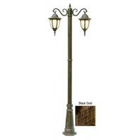 "Trans Globe Lighting 4043 BG Outdoor Hamilton 93"" Pole Light, Black Gold"