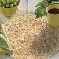 Lr Home Natural Natural Jute Rotary Placemats - Set of Two