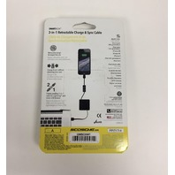 Scosche smartBOX 2-in-1 Retractable Charge and Sync Cable - White