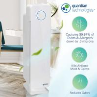 Germ Guardian - Elite Hepa Tower Plus Air Purifier - White