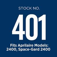 Aprilaire 401 Air Filter For Air Purifier Models 2400 And 2400; Pack Of 2