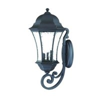 Acclaim Waverly Collection 3-Light Wall Mount Outdoor Light Fixture, Matte Black