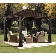 Sojag Dakota Metal Permanent Gazebo, 10 Ft. W X 10 Ft. D
