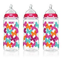 Nuk Trendline Orthodontic Medium Flow Silicone Bottles, 3ct