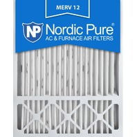 Nordic Pure 20x25x5 Honeywell  AC Furnace Air Filters, Merv 12 (Box Of 2)