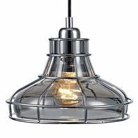 Versanora - Illusione Metal Mini Pendant Lamp With Cage - Chrome Finish