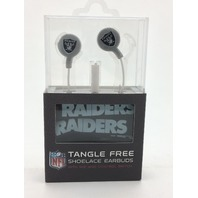 Oakland Raiders Tangle free Shoelace Earbuds