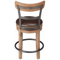 Signature Design - Pinnadel Swivel Barstool - Counter Height - Brown
