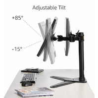 Amazonbasics Dual Lcd Monitor Stand, Free Standing Mount, Steel