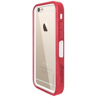 Crusta Rugged Embedded Tempered Glass/Holster for iPhone 6 Plus Red on White