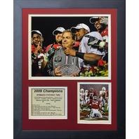 Legends Never Die 2009 Alabama Crimson Tide National Champions Framed