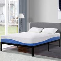 Olee Sleep 10 Inch Gel Infused Layer Top Memory Foam Mattress Blue (Twin)
